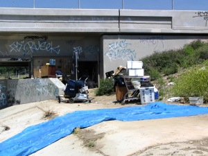 LA River - homeless camp
