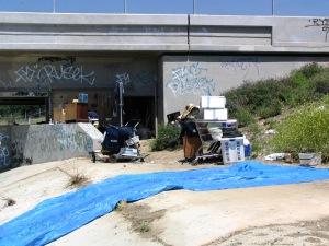 LA River - homeless camp